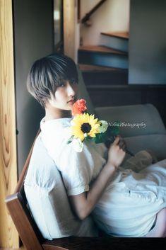 summer | flowers | photo: Nobu | model: アオイミヅキ