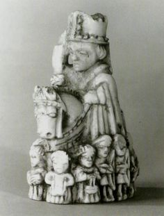 Chess piece Bishop,ivory,Southern Germany,14th cent. Staatliche Museum Berlin