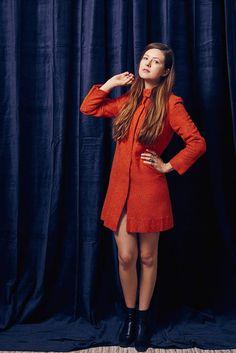 1960s Mod Bright Orange Dress Jacket Fashions by Kathy