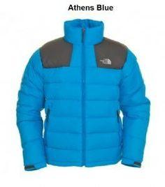 North Face Outdoor Men's Black/Blue Down Jacket