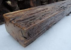 Reclaimed Wood Mantel - Rustic Oak Fireplace Mantel or Mantel Shelf(72-1/8 x 5-3/4 x 3-1/2) - Handcrafted By Harvestbilt by Harvestbilt on Etsy