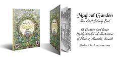 New adult coloring book Magical Garden  #coloring book #coloringbook #adultcoloringbook #drawing #illustration #fantasyart #aemilianamagnus #coloring