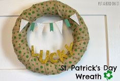 Put A Bird On It: How to Cut Fabric with a Silhouette Cameo & St. Patrick's Day Wreath