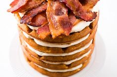 Bacon, Beer and Waffle Cake!