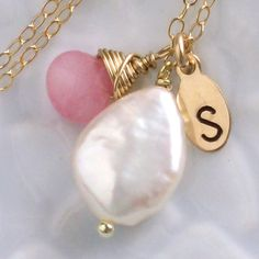 Savoir Faire Necklace  Coin Pearl with YOUR by ShopSomethingBlue, $44.00