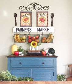 Baskets On Wall Jen My Purposed Place Fl Decorating Pinterest Walls And Kitchens