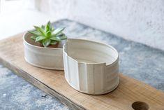 Large Ceramic planter, White planter, Cactus Planter, Modern Ceramic Planter, plant pot, air plant holder, Indoor gardening, Gardening Gift by FreeFolding on Etsy