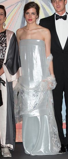 March 29, 2014 - Charlotte Casiraghi in Chanel at Monaco's Rose Ball benefitting the Princess Grace Foundation.