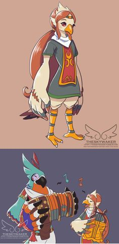 DUDE IF MEDLI WAS KASS'S TEACHER THAT'D BE AMAZING ...also I'm happy that someone drew her in BoTW style. I was waiting for that. Now we just need Komali.