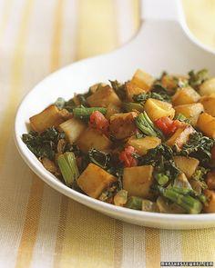 Turnip Hash with Broccoli Rabe  http://www.marthastewart.com/333960/turnip-hash-with-broccoli-rabe?center=276955=275205=262529#