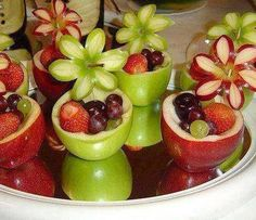 Apple fruit cups...so cute!