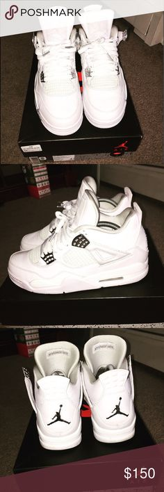 0cfbde18c50d Jordan pure money 4s worn once outside . comes with crease protectors  inside both. sz