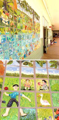 学校の壁に貼られた壁画。 卒業生たちによる作品です。 モチーフも色使いもなんともハワイらしくてかわいい!  そんなかわいい壁画の中に車いすの子を発見。  我が家の子供達が通う公立小学校には障害を持った子供が何人か通っていて、中には車イスに乗ったまま、動くことも話すこともできない重度の障害を持つ子供たちもいます。  ハワイの公立小学校は学習障害を持った子供たちも一般の子供たちと一緒に通える学校が多いようで、障害を持った子供達の特別指導の体制も非常に整っているんだとか。  人種もいろいろ、障害があったりなかったりもいろいろ。 本当にいろんな子供達がみんな一緒の学校に通う。ほんとすばらしい教育だと思います。 そうした環境にいるからか、こちらの子供達は「自分と違うこと」に対して非常に寛容です。とにかく変わっていても気にしない、というか、本当に気にならない。むしろみんな超!個性的。  個性を大事にする教育と「ちょっと変わっていること」に寛容なハワイ。我が家の個性的な子供達にはぴったりのようです〜。笑