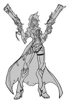 Tracer - Reaper   Overwatch Fanart (WIP) by Neexz