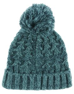 7538068e24 Knitted with a cool cross pattern in pretty tonal yarns, our beanie hat is  a cosy essential for braving the chill. It features a large ribbed turn-up  and a ...