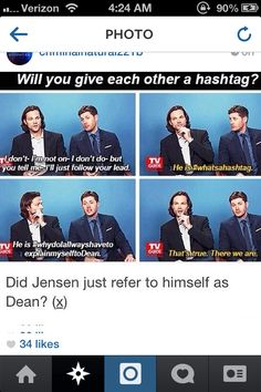 Jensen is #awkward.