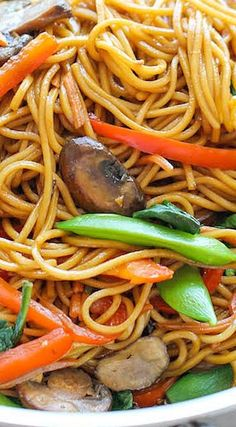Easy Lo Mein.The easiest lo mein you will ever make in 15 min from start to finish. And it's so much quicker, tastier and healthier than take-out!
