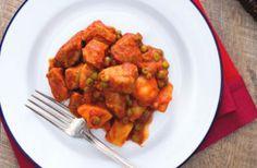 Ragoût de veau aux pommes de terre et petits pois WW, recette d'un savoureux plat mijoté et bien parfumé, facile et simple à réaliser pour un repas familial et léger.