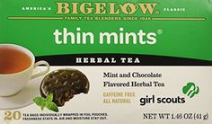 Bigelow Girl Scout Cookies Thin Mints Herbal Tea Pack of 2 ** Visit the image link more details.