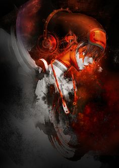 Red sound  by Nguyen Thanh Nhan -  Digital Art / Paintings & Airbrushing / Fantasy
