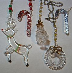 artisan handcrafted Light & Fan Pulls Home & Garden Stained Glass Christmas, Glass Christmas Ornaments, Light Pull, Rear View Mirror, Crochet Earrings, Artisan, Charmed, Fan, Jewelry