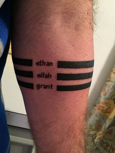Black Ink Band Tattoo On Men Forearm