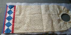 Material :   -Tecido  externo, que pode conter algum trabalho de patchwork, aplicação ou mesmo liso;  -Tecido de forro, combinando com a pa...