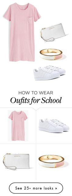 """""""First day of school"""" by maemec180334444 on Polyvore featuring J.Crew, adidas, Old Navy and MICHAEL Michael Kors"""