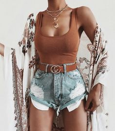 Cute Summer Outfits For Women And Teen Girls Casual Simple Summer Fashion Ideas. Clothes for summer. Summer Styles ideas Trending in Cute Summer Outfits, Cute Casual Outfits, Short Outfits, Spring Outfits, Stylish Outfits, Casual Summer Clothes, Summer Outfits For Vacation, Layered Summer Outfits, Concert Outfit Summer