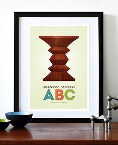 Mid Century Modern poster Eames print Herman Miller by yumalum