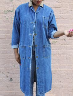 1980's Denim Duster by WashingtonAveStyles on Etsy