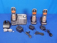 Uniden TRU9485 5.8 GHz Cordless Telephone 3 Phones Chargers NewBatteries Answer #Uniden