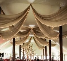 like the drapes with fairly lights attached....different colour though