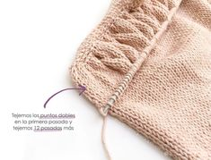 I'm Marta from Creativa Atelier and I'm delighted to be sharing my knitted Alba Top tutorial, which shows you how to knit a baby top with a frill. Baby Knitting Patterns, Knitting For Kids, Baby Patterns, Crochet Patterns, Short Bebe, Seed Stitch, Stockinette, Knitted Hats, Cloud Mobile