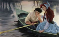 Kiss The Girl- Ariel and Prince Eric Disney Dream, Disney Love, Disney Magic, Ariel Mermaid, Ariel The Little Mermaid, Disney And Dreamworks, Disney Pixar, Disney Characters, Disney Cartoons