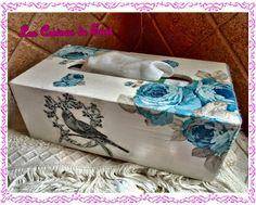 caja pañuelos decorada decoupage