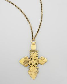 Zelda Brass Pendant Necklace by Vanessa Mooney at Neiman Marcus.