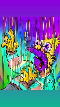 the simpsons merchandise Trippy Wallpaper, Graffiti Wallpaper, Cartoon Wallpaper, Graffiti Art, Trippy Cartoon, Dope Cartoon Art, The Simpsons, Trippy Pictures, Simpsons Drawings