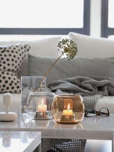Tea Light Candles, Tea Lights, Interior Color Schemes, Interior Design, Pretty Lights, Tealight Candle Holders, Shop Interiors, Decorating Blogs, Scandinavian Living