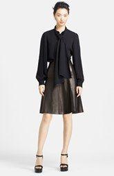 Michael Kors Blouse & Leather Skirt