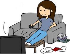 Yo observo televisión en tu tiempo libre.
