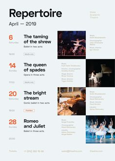 Theatre Schedule Poster : Schedule template for your theatrical performances. Poster Design Layout, Event Poster Design, Graphic Design Posters, Brochure Design, Graphic Design Inspiration, Graphic Design Calendar, Design Timeline, Poster Design Software, Graphic Design Magazine