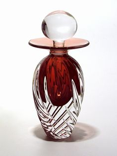 TWISTED SQUARE RIB & Facet Perfume Bottle