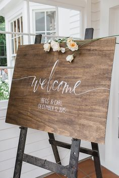 wedding welcome sign