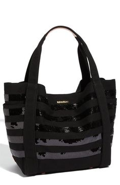 A great carry-on bag: M Z Wallace 'Ava' Sequined Canvas Tote #luxetravel