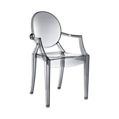 Sweet William Chair in Smoke.  This is a copy of the Kartell Philippe Starck Louis Ghost chair.  $114