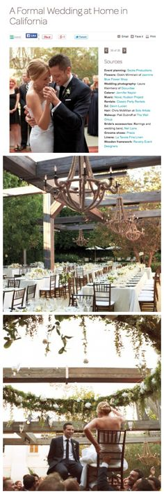 A Formal Wedding at Home in California- Revelry Event Designers | Reclaimed wood structure for reception