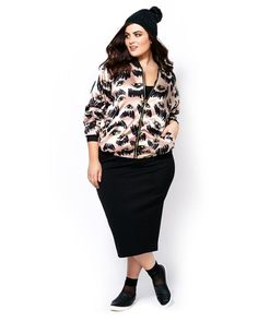 MELISSA McCARTHY Ponte Pencil Skirt Trendy Plus Size Fashion, Stylish Plus, Plus Size Outfits, Trendy Outfits, Size Blog, Size Zero, Wide Width Shoes, Melissa Mccarthy, Everyday Look