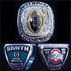 The 1st ever National  Championship Rings...Love those Buckeyes!