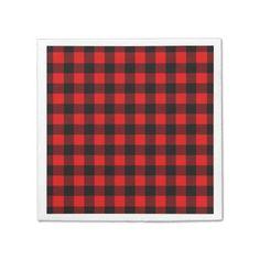 Lumberjack Buffalo Plaid Paper Napkin